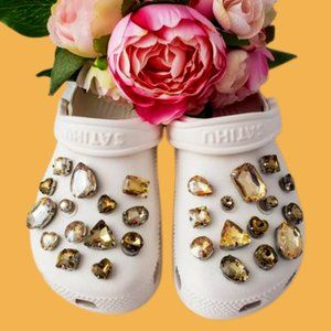 Crocs Shoe Jewel Charms CHAMPAGNE